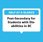 Post-Secondary for Students with Disabilities in BC